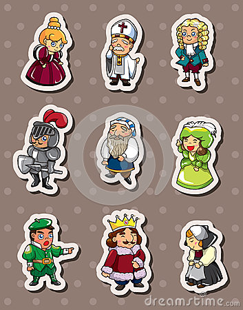 cartoon-medieval-people-stickers-25621910